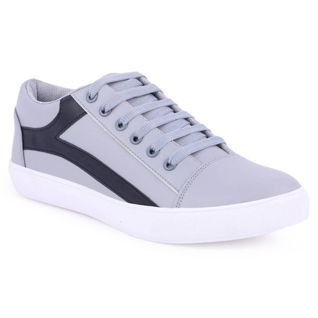 Comfy Grey Casual Sneakers Shoes for Men - vezzmart
