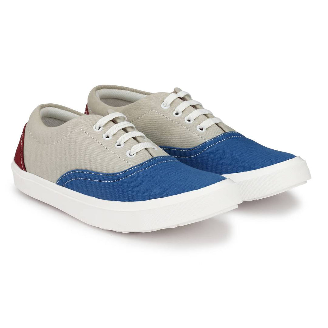 Multicoloured Canvas Causal Sneakers Shoes for Men's - vezzmart