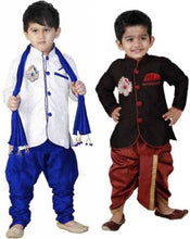 Load image into Gallery viewer, Boys Festive & Party Sherwani and Churidar Set (pack of 2) - vezzmart