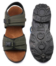 Load image into Gallery viewer, Comfy Tan Synthetic Sandals for Men - vezzmart
