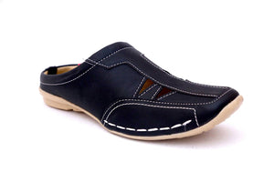 Men's Black Synthetic  Comfort Sandals - vezzmart