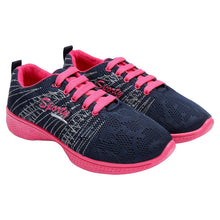 Load image into Gallery viewer, Women's Navy Blue Sports Running Shoes - vezzmart