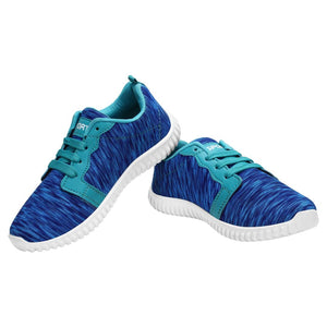 Women's Blue Sports Running Shoes - vezzmart