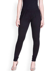 Women's Solid Cotton Spandex Leggings - vezzmart