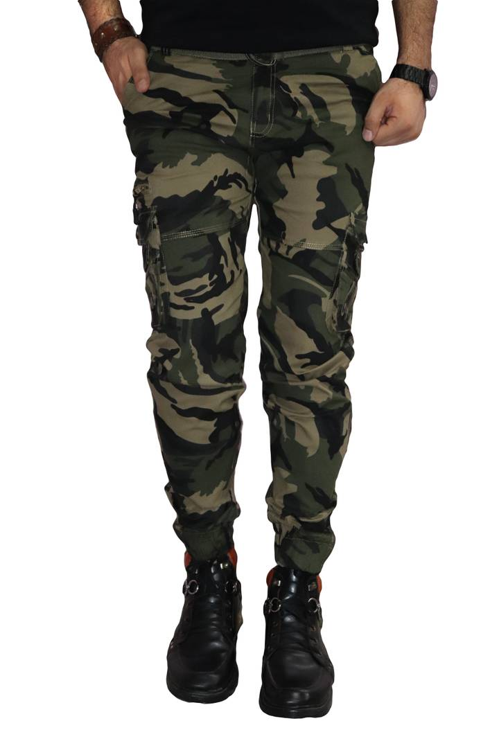 Men's Multicoloured Cotton  6 Pocket Cargo Pants - vezzmart