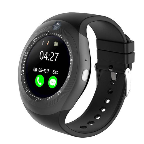 Digital Smart Watch With Sim Card, Memory Card Slot, Touch Display & Inbuilt Camera For All Android Device - vezzmart