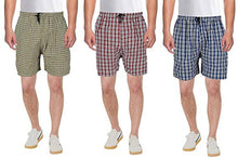 Load image into Gallery viewer, Men's Multicoloured Cotton Blend Regular Shorts - Pack Of 3 - vezzmart