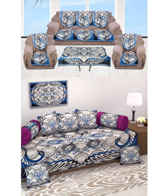 Jute Sofa Set, Diwan Set With Mat And Table Cloth Combo - vezzmart