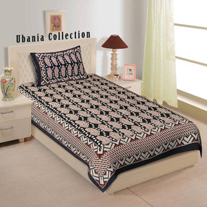Cotton Single Bedsheet - vezzmart