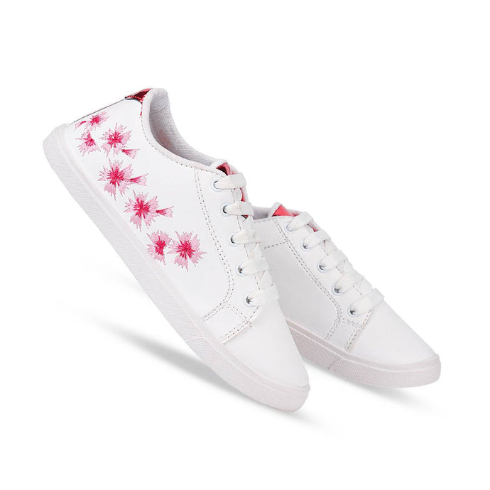 Stylish Sparkle White Women Casual Sneakers - vezzmart