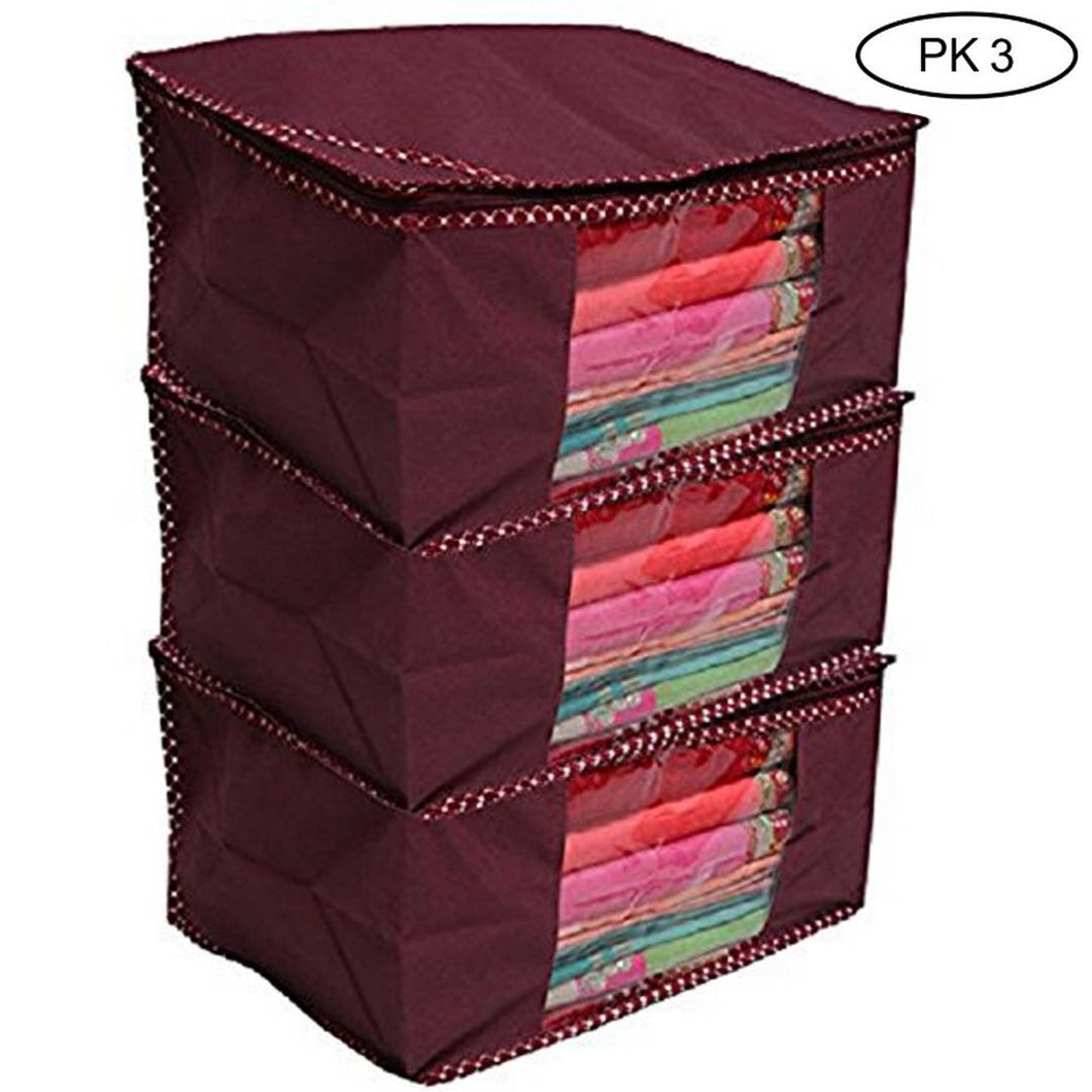 Trendy Non-Woven Saree Covers (Pack of 3 ) - vezzmart
