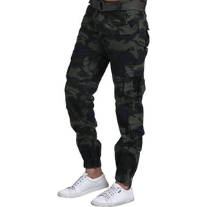 Men's Multicoloured Cotton Blend Mid-Rise Printed Regular Fit Cargo - vezzmart