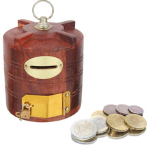 Load image into Gallery viewer, Wooden Tank Shaped Piggy Bank - vezzmart