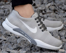 Load image into Gallery viewer, Elite Grey Mesh Sneakers for Men - vezzmart