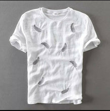 Load image into Gallery viewer, Men's White Cotton Printed Round Neck Tees - vezzmart
