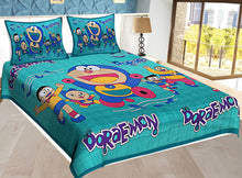 Load image into Gallery viewer, Comfortable Multicoloured Cotton Abstract Double Bedsheet - vezzmart