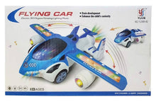 Load image into Gallery viewer, 360 DEGREE ROTATING WITH AUTO PLANE TO CAR TRANSFORM TOY WITH 3D LIGHTS - vezzmart
