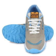 Load image into Gallery viewer, Men's Blue Synthetic Sports Running Shoes - vezzmart