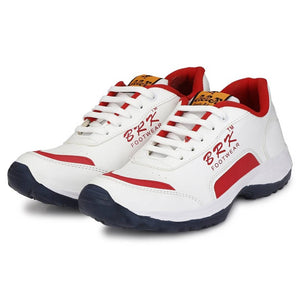 Men's Red Synthetic Sports Running Shoes - vezzmart