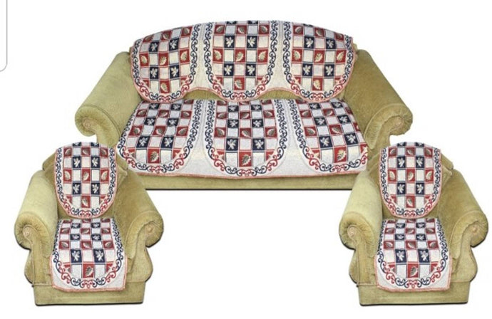 classic printed5 seater sofa covers - vezzmart