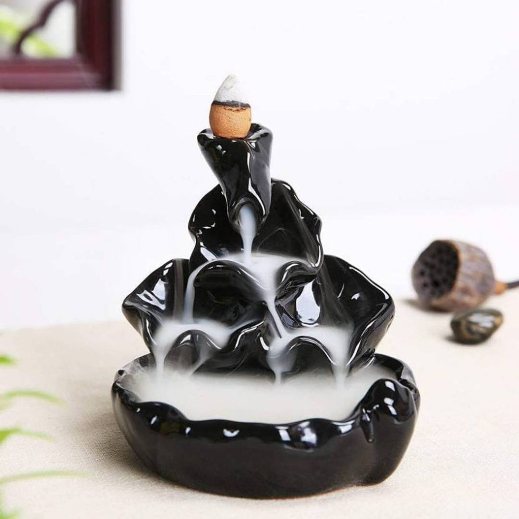 Clssic Back Flow Smoke Fountain With 10 Incense Cone - vezzmart