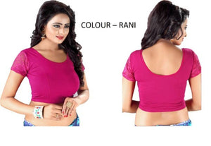 New Cotton Spandex Solid Blouse For Women - vezzmart