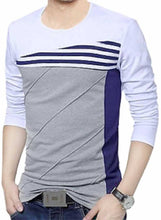 Load image into Gallery viewer, Men's Multicoloured Cotton Self Pattern Round Neck Tees - vezzmart