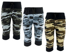 Load image into Gallery viewer, Pack Of 3 Boy's Army Printed Hosiery Cotton Capri 3/4 - vezzmart