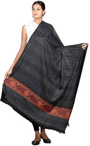 Royal winter women's Kashmiri Shawl, Jacquard palla, Warm and soft, Faux Pashmina Design - vezzmart