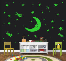 Load image into Gallery viewer, Moon Night Glow - Radium Glow in The Dark - Night Glowing Wall Stickers - vezzmart