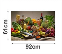 Load image into Gallery viewer, Waterproof Kitchen Healthy food wall sticker Wallpaper/Wall Sticker Multicolour - Kitchen Wall Coverings Area (61Cm X92Cm) - vezzmart
