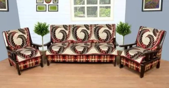 Stylish Cotton Printed Sofa Covers - vezzmart
