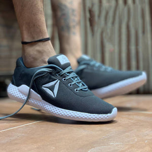 Elegant & Stylish Grey Mesh Sports Sneaker For Men - vezzmart