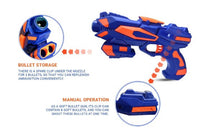 Load image into Gallery viewer, NHR Foam Blaster Gun with Free 8 Bullets, Blue - vezzmart