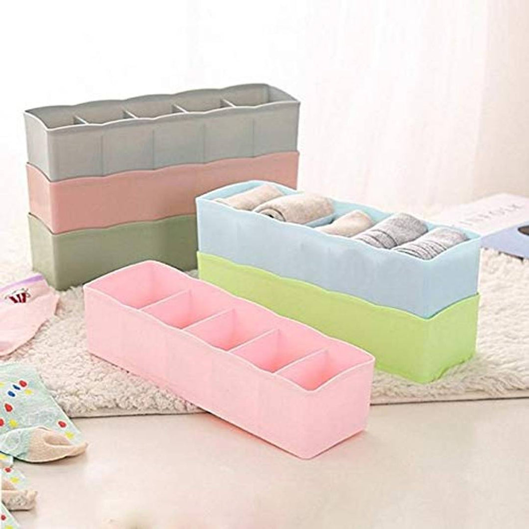 Plastic Undergarments Innerwear Cosmetic Makeup Drawer Organiser  (Pack of 6) - vezzmart