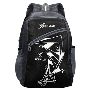 Black Polyester 41 LTR Waterproof Casual School Backpack - vezzmart