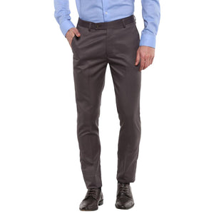 Grey Slim Fit Formal Trouser - vezzmart