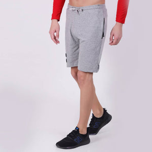 Trendy Grey  Mens  Cotton Shorts - vezzmart