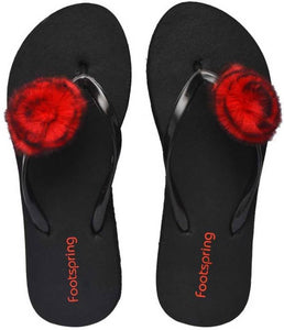 Comfortable Women's Red Flip-Flop - vezzmart