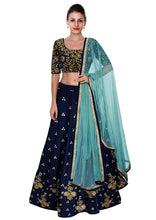 Load image into Gallery viewer, Women's Multicoloured Art Silk Lehenga Cholis - vezzmart