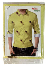 Load image into Gallery viewer, Yellow Poly Blend Unstitched Shirt Piece - vezzmart