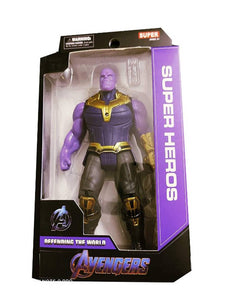 Avengers 7 Inch Super Hero Marvel Action Figure With Movable Hands -  Thanos - vezzmart