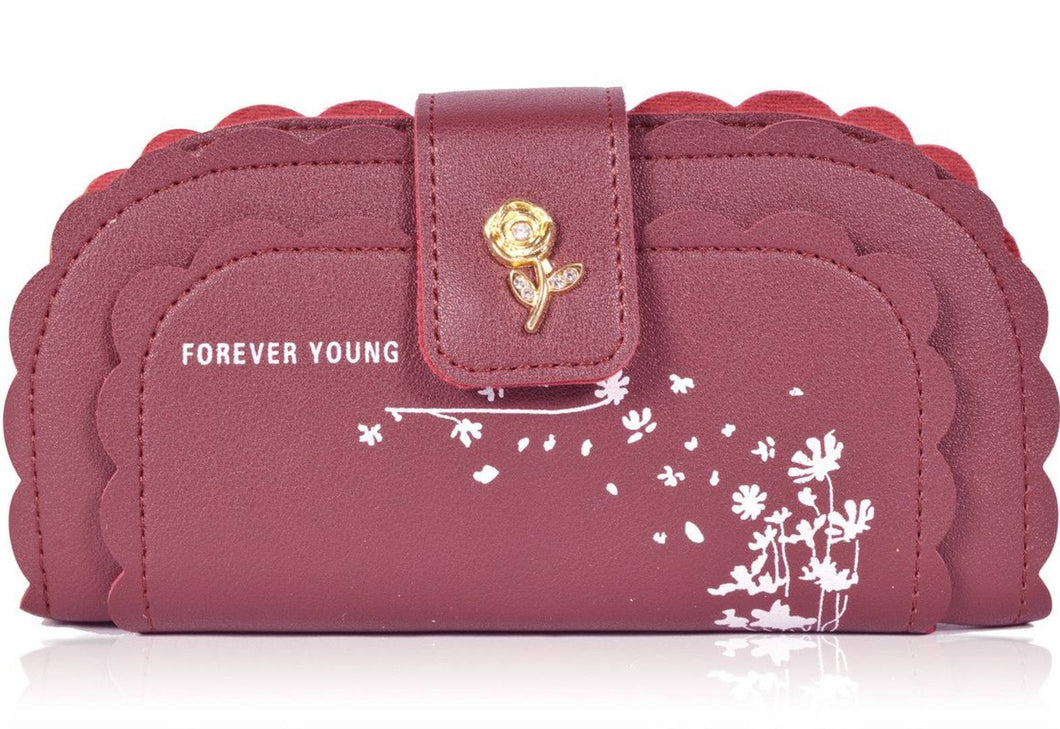 Treditional PU Leather Wallet For Women - vezzmart