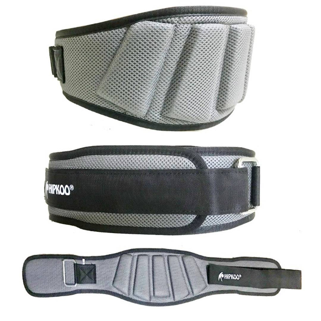 Hipkoo Sports Extreme Grid Design Gym Belt (6 Inch Wide, 10mm Thickness) Waist Support (Small) Adjustable 28 To 34 Waist - vezzmart