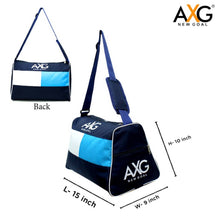 Load image into Gallery viewer, AXG NEW GOAL Triangle Shape 1 Side Pocket  (Blue, Kit Bag) - vezzmart
