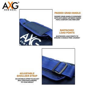 AXG NEW GOAL Triangle Shape 1 Side Pocket  (Blue, Kit Bag) - vezzmart