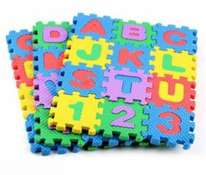 Kids educational puzzle foam mat game - vezzmart