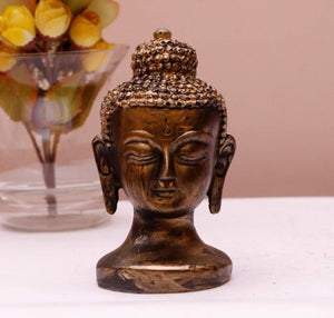 Luvcraft Antique Look Lord Gautam Buddha Face Statue for Home Decor| Office Decor| Chrismas Decor| Vaastu Decor Decorative Showpiece - vezzmart