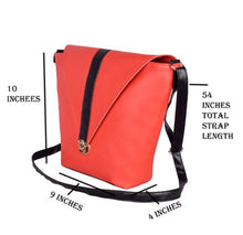 Load image into Gallery viewer, Women Artificial Leather Sling Bag For Girl - vezzmart
