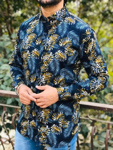 Men's Multicoloured Printed Cotton Casual Shirts - vezzmart